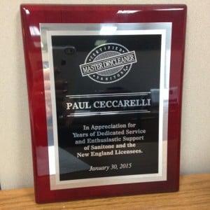 Paul Ceccarelli's Plaque
